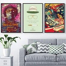 Affiches de films classiques et imprimés de Las Vegas   En toile, images de peinture sur le mur, décoration de maison abstraite