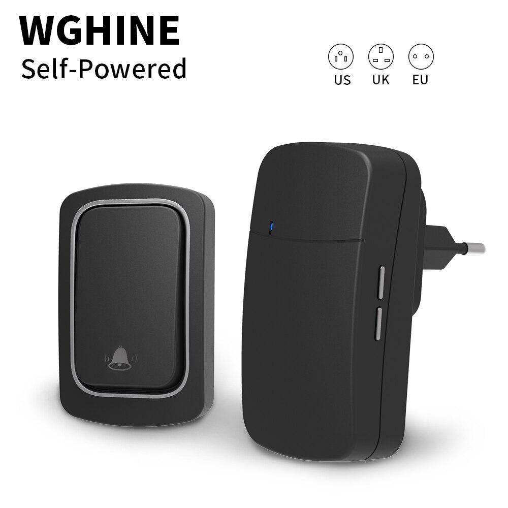 WGHINE Outdoor Wireless Doorbell Self-powered Waterproof Door Bell Home Welcome Doorbell Chimes Door