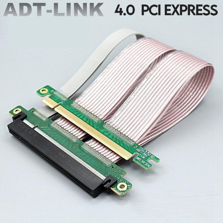 2021New PCI اكسبرس التدريع الملكية PCIE 4.0 16x مرنة ملحق تمديد كابلات مهايئ منفذ عالية السرعة الناهض بطاقة 22 سنتيمتر 180 درجة