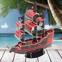 Детские 3d головоломки из бумаги ручной работы интеллекта, науки и образования игрушки, модель пиратского корабля подарки P347