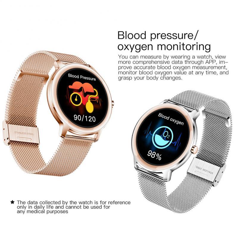 New KOSPET R18 Smartwatch Waterproof Smart Watch Women Lovely Bracelet Blood Pressure Monitor Lady Wrist Clock For IOS Android