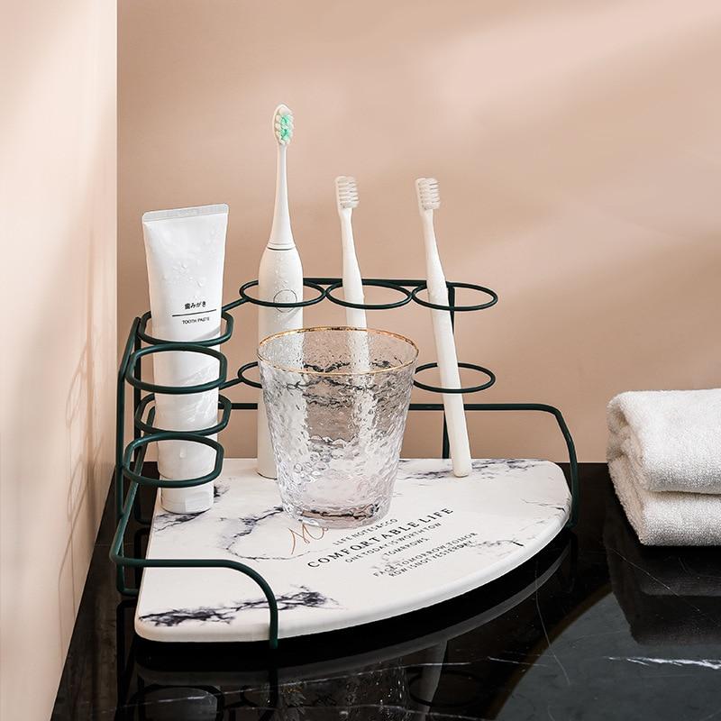 Bathroom Accessories Organizer Corner Tabletop Sets Electric Toothbrush Toothpaste Holder Rack Wash Basin Storage Shelf enlarge