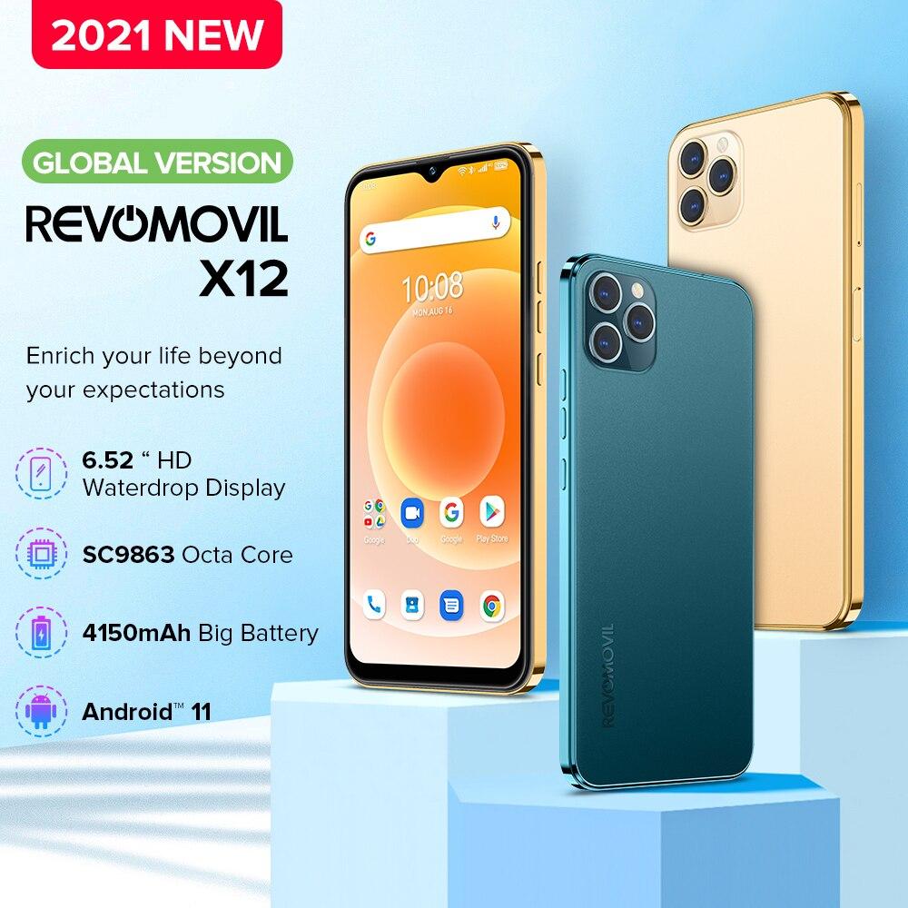 2021 Global Version Smartphone Revomovil X12 4G 128GB Telephone 16MP Camera Celular Daul SIM Card 4150mAh 4G Mobile Cell Phone