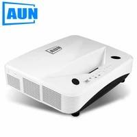 AUN Laser TV 10000 ANSI Lumens  Ultra-courte portee reflechissante  Full HD 1920x1080P projecteur Home Cinema 4K Via holographique