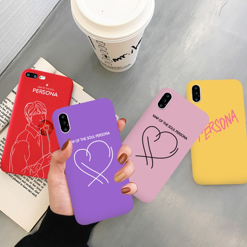 Funda de color de mapa del alma PERSONA para iPhone 6 6s 6splus 7 Plus 8plus funda de teléfono de silicona suave amor corazón para X XR XS XSMAX