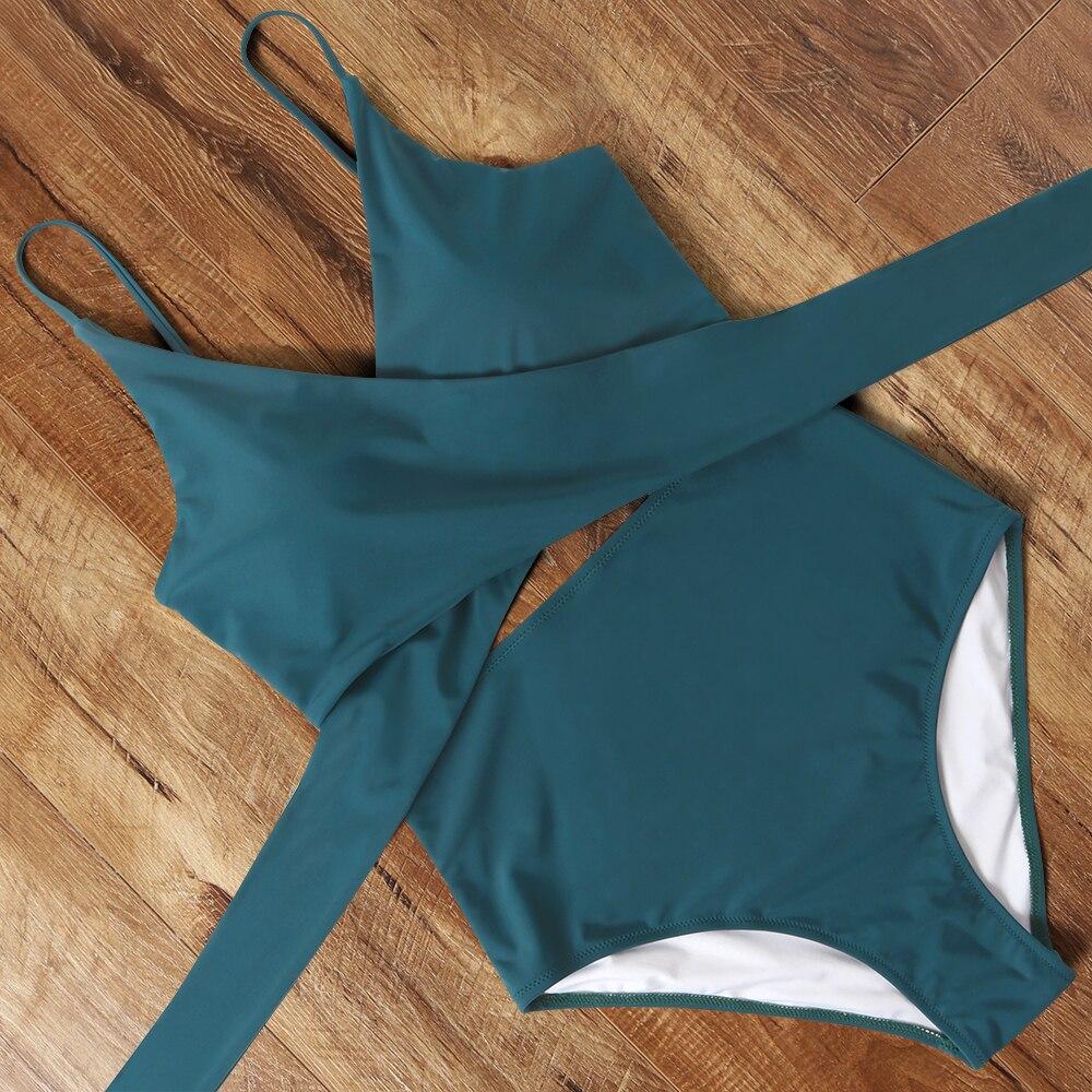 Traje de baño de una pieza, traje de baño cruzado Sexy para mujer, Monokini de cintura alta, traje de baño brasileño con Tanga, traje de baño sólido, ropa de playa de leopardo