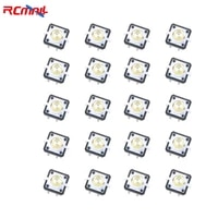 rcmall 20pcs 12127 3mm 4pin tactile tact mini push button switch with led white