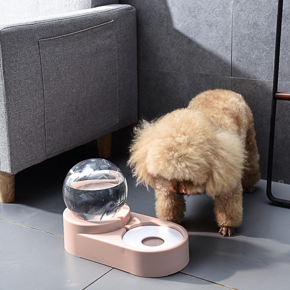 Cuencos de burbujas PAPASGIX de 1,8 l para mascotas, alimentador automático de comida, fuente de agua potable para gatos y perros, contenedor para alimentación de gatitos, suministros para mascotas