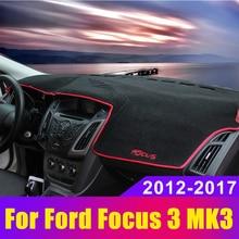 Car Dashboard Covers Mat Avoid Light Pad Sun Shade Carpets Protector LHD For Ford Focus 3 MK3 2012 2013 2014 2015 2016 2017 2018