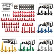 137 pièces moto universelle complète carénage boulons M5 M6 vis Kit pour Honda/Yamaha/Suzuki/KTM/BMW/Kawasaki