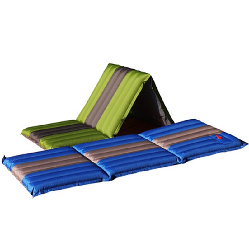 Self-Inflated Camp Mattress Outdoor Foldable Picnic Recliner Splicable Sleeping Pad Inflatable Cushion Moisture-proof Tent Mat