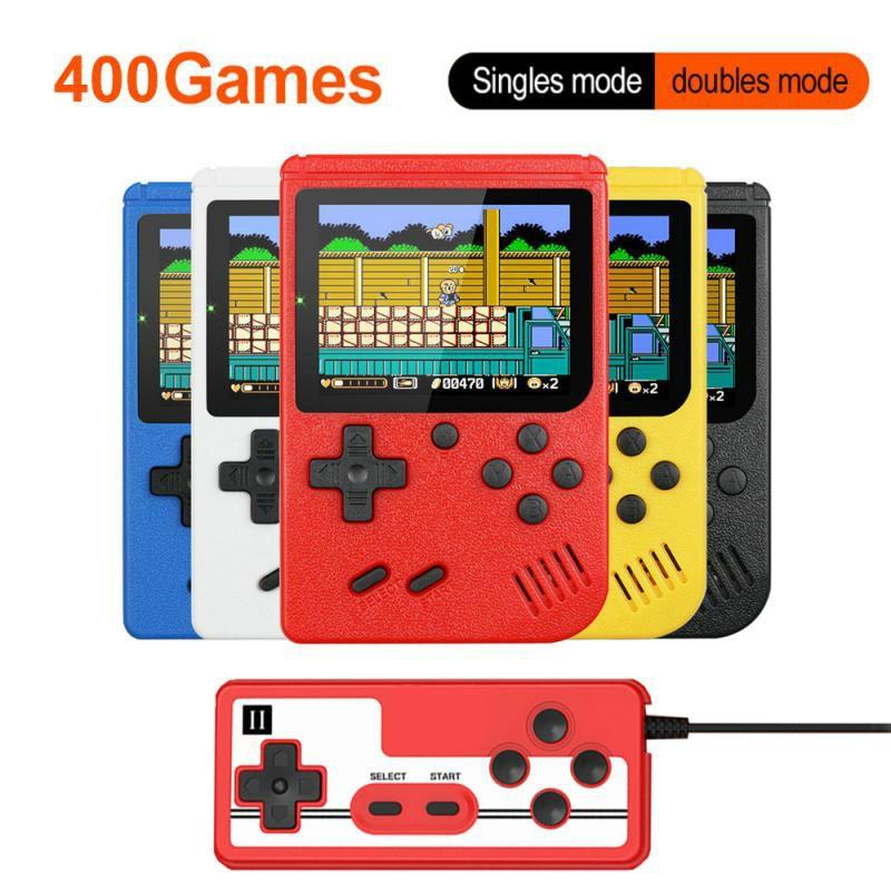 3-дюймовые портативные игровые консоли 400 в 1, ретро консоль для видеоигр, 8-битный игровой плеер, портативные игровые плееры, геймпады для дет...