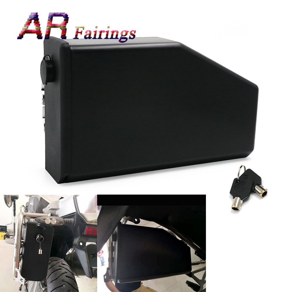 صندوق أدوات للدراجات النارية ABS ، 5 لترات من الجانب الأيسر مع مفاتيح لسيارات BMW R1200GS / ADV 2014-2018 / R1250GS 2019 Benelli TRK502 2016-2019