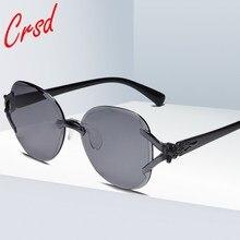 CRSD 2020 Candy Color Eyewear Cat Eye Frameless Glasses Women Brand Designer Sunglasses Party Outdoo