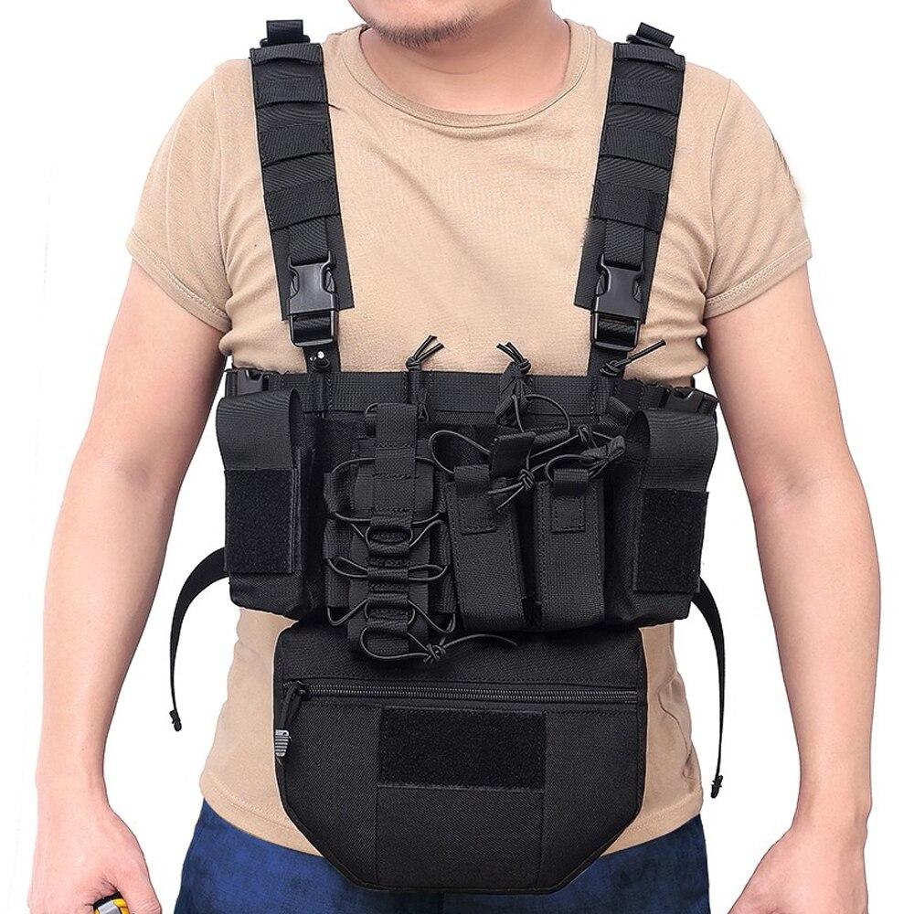 Colete tático militar caça molle colete tiro assalto revista bolsa lanterna titular portador de munição bala bolso