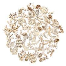50 قطعة الليزر قطع الخشب رقائق منحوتة الزينة عيد الميلاد عيد الفصح نمط على شكل الحلي قلادة ديكور اليدوية DIY بها بنفسك الحرف