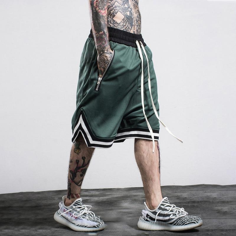 Men's Casual Shorts Hip Hop Streetwear Male Gyms Fitness Short Pants Joggers Sportswear Bottoms Bodybuilding Men Shorts Homme
