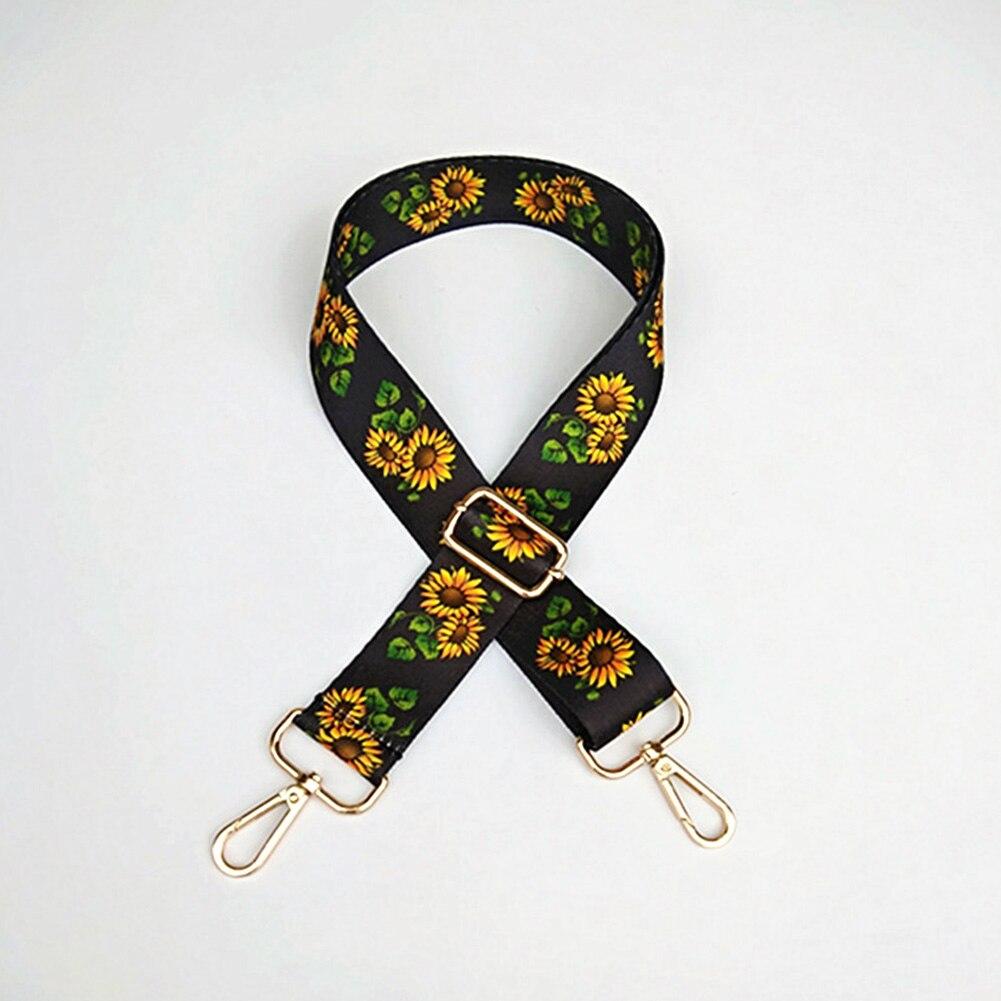 RFID bloqueo bolsa de hombro Correa bolso estilo étnico Lindo bolso de piezas de repuesto espesar estilo Fabala ajustable cinturones