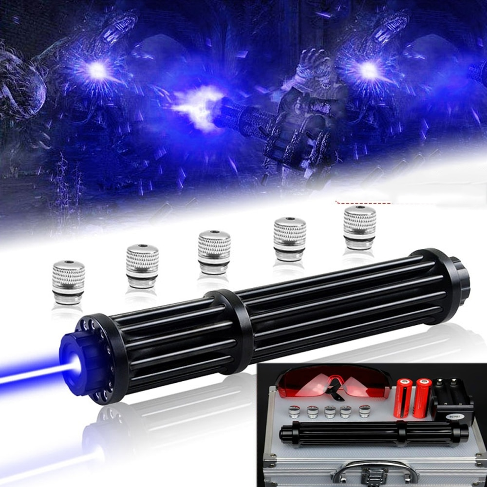 High Power 2w Lengthen Blue Laser Pointers 450nm Lazer sight Flashlight Burning Match/Burn light cigars/candle/ Hunting