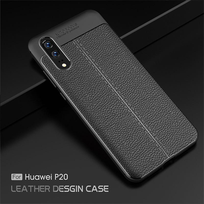 Funda de silicona de lujo de fibra de carbono para Huawei Honor 10i 20i 6A 7A 8C 8X Play View 10 20 9 Lite Y6 Pro Y9 2019 2018 fundas