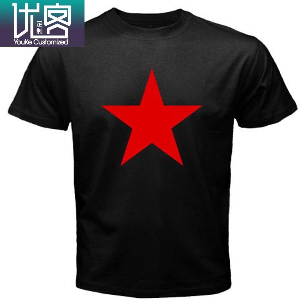 Nuevo rojo estrella ejército REM R E M Rock Music Legend camiseta negra para hombre talla S a 3XL 100% de algodón para hombres camisetas sbz1063
