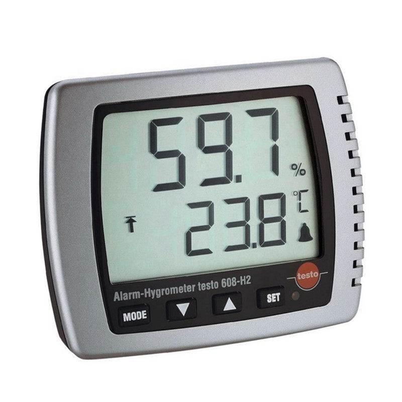 original and brandnew testo 608 H2 digital thermo hygrometer with LED alarm and dew point test enlarge