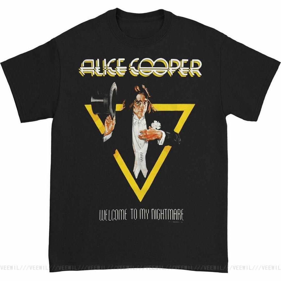 Camiseta con estampado de Alicia Cooper para hombre, camisetas de bienvenida a...