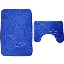 Shower Carpet Toilet Rug Dolphin 3D Floor Mat Funny NEW 2 Color Kitchen Bathroom Non-Slip Hygroscopic Home