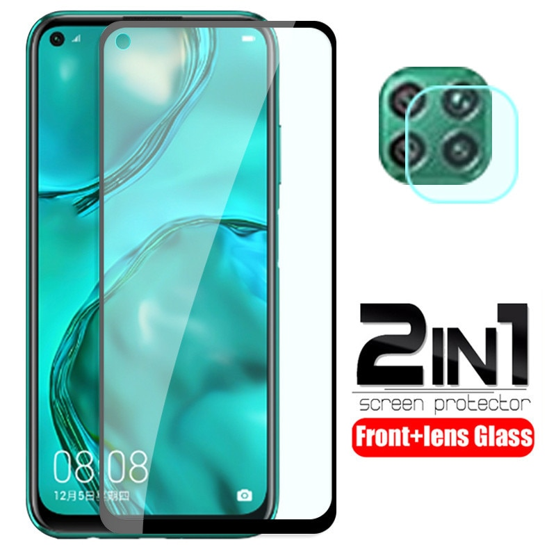 For huawei p40 lite Glass 2 in 1 protective Glass For huawei p 40 lite p40lite E p40 light screen pr