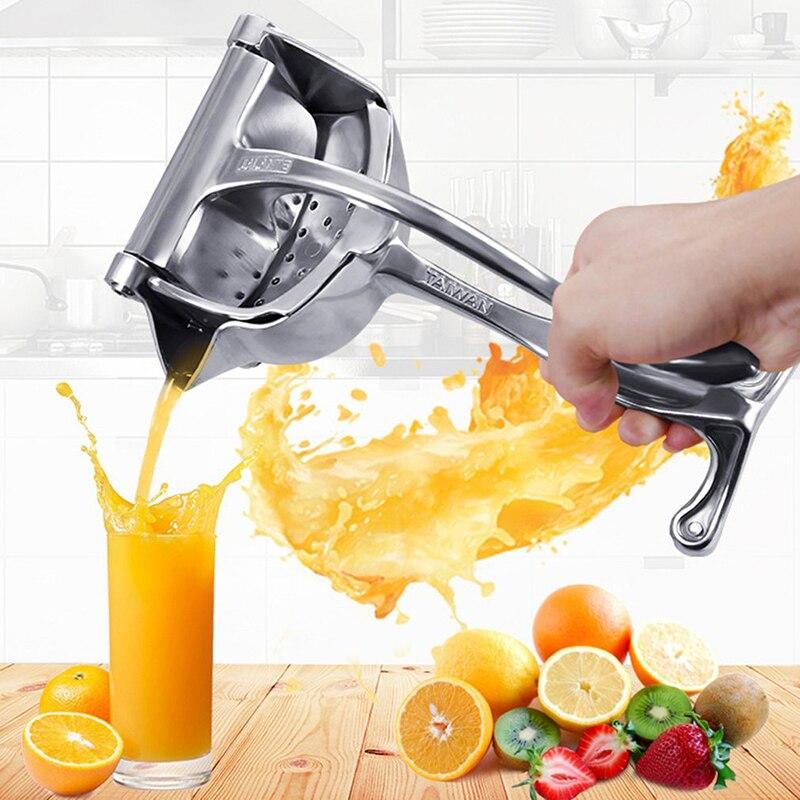 Espremedor de Suco Alta Qualidade Manual Liga Alumínio Mão Pressão Espremedor Romã Laranja Limão Açúcar Cana Suco Ferramenta Cozinha