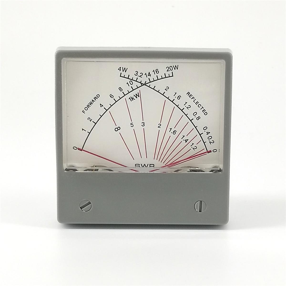 Stationary Standing Wave Ratio SWR Watt Meter Radio VU Meter Forward 20W Reflected 4W HF SZ-70-1