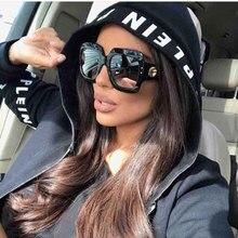 2021 occhiali da sole quadrati oversize donna Vintage occhiali da sole retrò marchio di lusso nero grandi tonalità occhiali femminili Oculos UV400