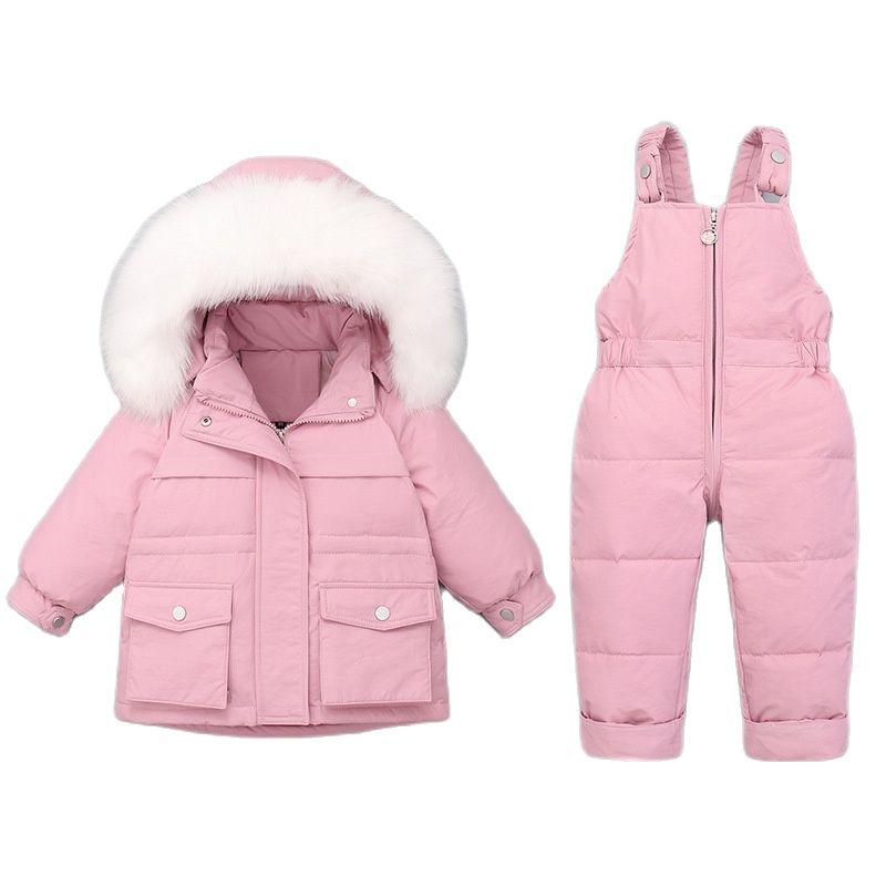 Kids Down Coat Winter Children's Jacket Set Kids Jumpsuit Thick Warm Winter Baby Snowsuit Toddler Girl Clothes 1-5Y Outfits Set enlarge