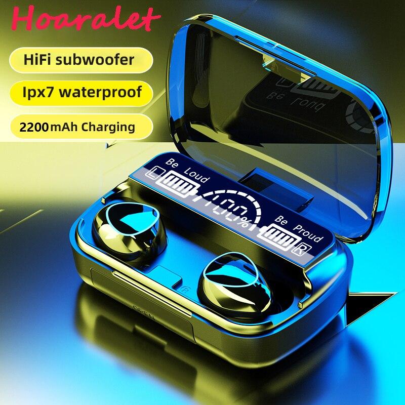 Беспроводные наушники с микрофоном, TWS наушники с зарядной станцией, Bluetooth 5,1, спортивные водонепроницаемые стереонаушники 9D | Электроника | АлиЭкспресс