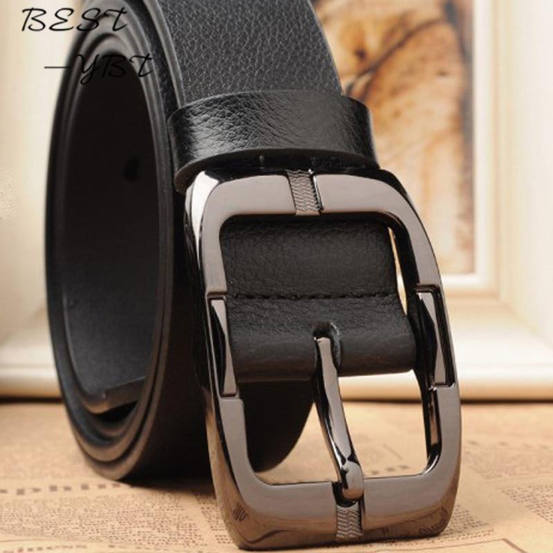 New High Quality Luxury Brand Leather Belt Designer Belts Men Pin Buckle Black Business Trouser Strap Cinturones Hombre Cinto
