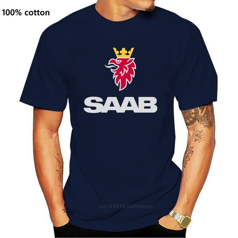 Men T shirt Saab New T Shirt Graphic Tee Cool Tops O Neck T Shirts for funny t-shirt novelty tshirt