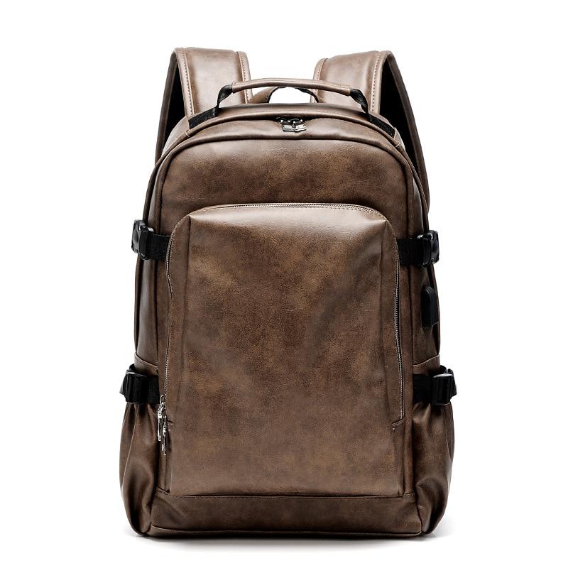Weysfor رواج بولي Leather الجلود حقيبة السفر حقائب الكمبيوتر المحمول الذكور حقيبة ظهر بسعة كبيرة للرجال النساء عادية حقائب مدرسية كتاب