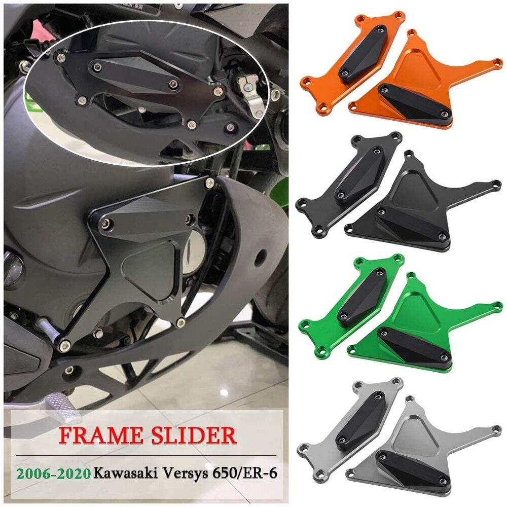 غطاء محرك الدراجة النارية ، واقيات الإطار ، الجزء الثابت ، لكاواساكي Versys 650 KLE650 Ninja 650 ER6N ER6F 06-20