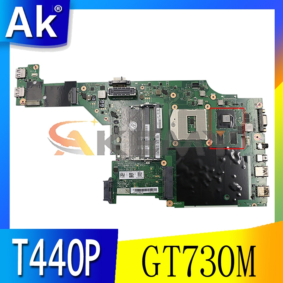Akemy VILT2 NM-A131 لينوفو ثينك باد T440P اللوحة الأم GPU GT730M 100% اختبار العمل FRU 00HM981 00HM983 04X4086 00HM985