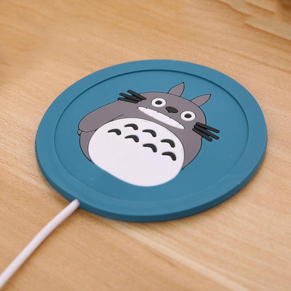 1 Pc USB כוס כרית קריקטורה סיליקון חם תה קפה לשתות דוד usb מגש כוס מחצלת גאדג טים