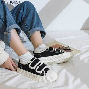 Black Vulcanize Shoes for Woman 2021 Platform Flats Canvas Shoes Women Chunky Sneakers Women Shoes Casual кроссовки женские