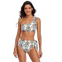 mugshot bikini swimsuit tie side simple swimwear fitness big chest sale two piece bathing suit
