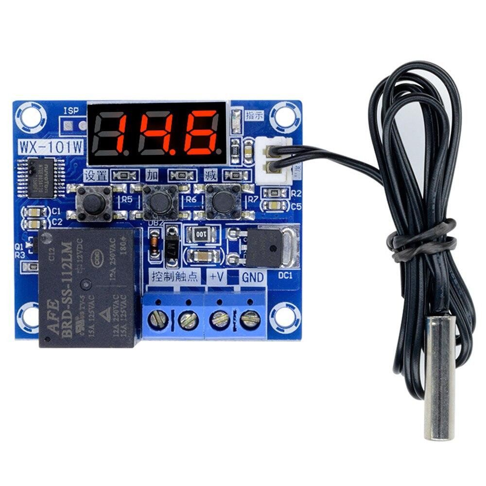 Sensor G2-005 do controlador de temperatura de digitas da placa de controle do termostato da temperatura do diodo emissor de luz-40-120c para a incubadora 12v