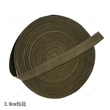 Bord de ruban tissé 2.5cm 2.0cm pur coton bord bande kaki armée vert sac à dos bord