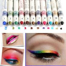 12 pièces crayon Eyeliner imperméable coloré stylo longue durée yeux lèvre Stick femmes sourcil lèvre Liner outils de maquillage Maquiagem