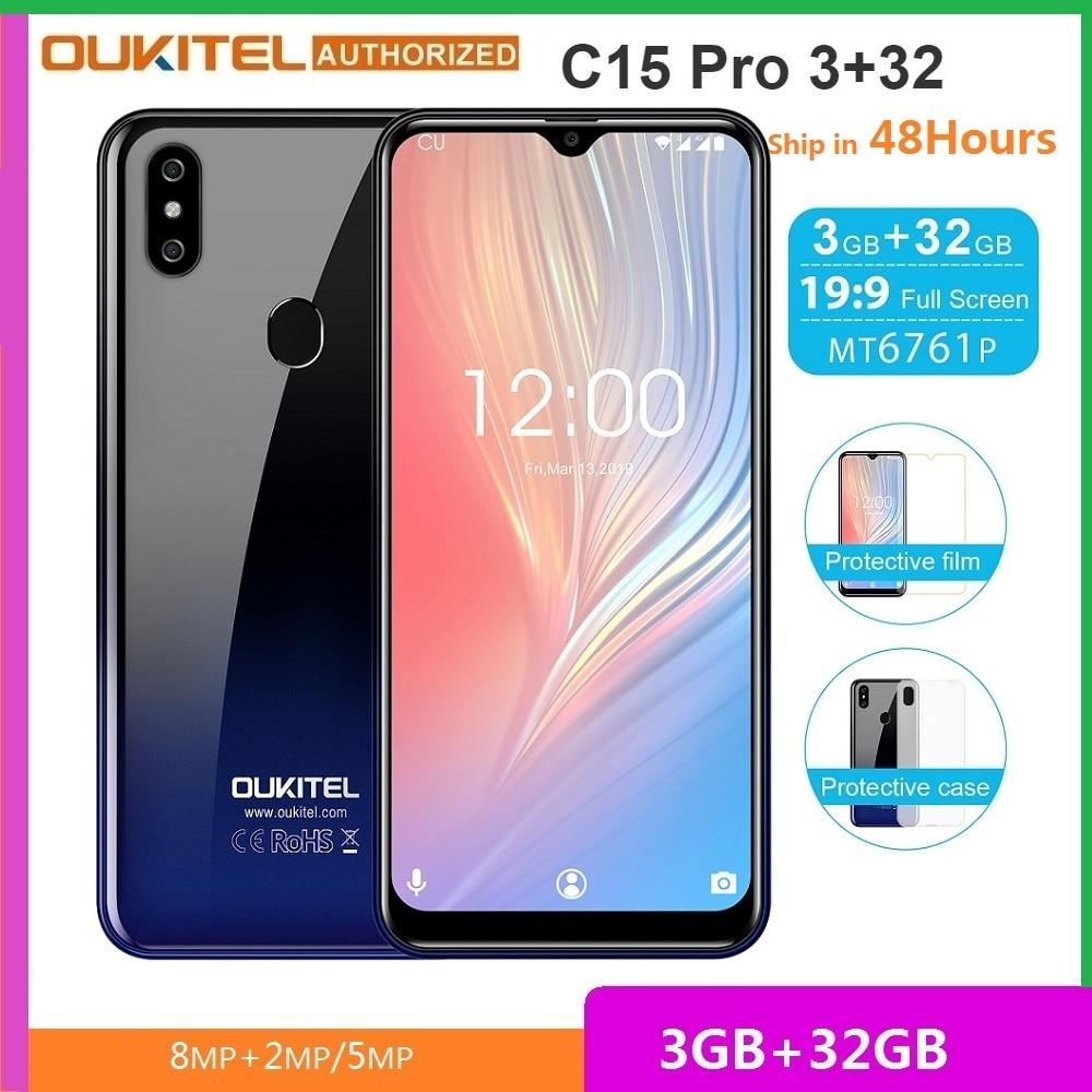Перейти на Алиэкспресс и купить OUKITEL C15 Pro смартфон с 5,5-дюймовым дисплеем, четырёхъядерным процессором MT6761, ОЗУ 3 ГБ, ПЗУ 32 ГБ, 8 Мп + 2 МП, Android 6,088