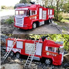 RC Water Spray Fire Truck Music Light Remote Control Car Kids Toy Boys Girls Gift
