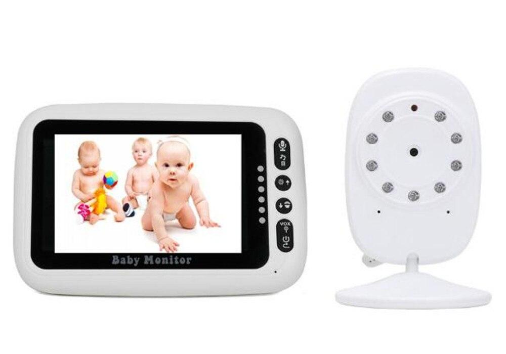 Monitor de bebé de larga distancia inalámbrico de 4,3 pulgadas sistema de intercomunicación visión nocturna cámara de seguridad alarma Zoom vigilancia niñera
