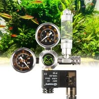 dual stage co2 regulators with integrated solenoid valve for aquariums co2 kit system for planted tank aquarium accessories