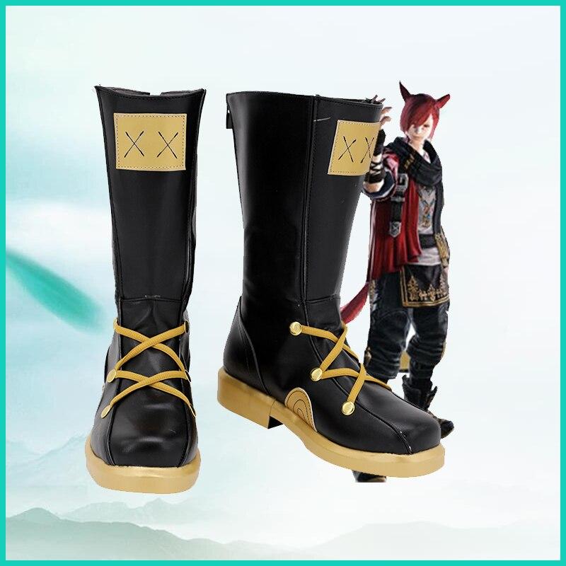 جديد للجنسين ازياء الانيمي كوس G'raha Tia تأثيري أحذية أحذية هالوين حفلة عيد الميلاد حجم مخصص